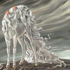 Long flowing mane of a unicorn mare Unicorn And Fairies, Unicorn Fantasy, Unicorn Horse, Unicorns And Mermaids, Unicorn Art, Fantasy Art, White Unicorn, Unicornios Wallpaper, Unicorn Drawing