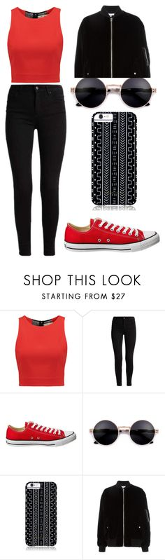"""Feeling Red and Black"" by bethany-franco on Polyvore featuring Alice + Olivia, Converse, Savannah Hayes, IRO, adorable and fashionable"