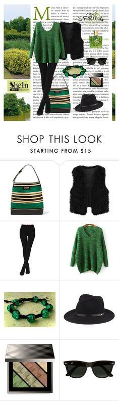 """SheIn Black Leggings"" by styledonna on Polyvore featuring moda, Marni, Shamballa Jewels, rag & bone, Burberry, Ray-Ban, Malie Organics i shein"