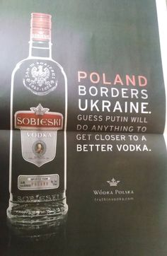 He'll Soon Be Putin This In His Cellar? Let's hear it for Polish vodka!!