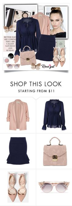 """""""ROSEGAL"""" by elly-852 ❤ liked on Polyvore featuring Prada, River Island and Jimmy Choo"""