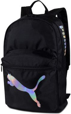 From the campus to the gym, keep your essentials handy on the go with this sleek backpack from Puma. An exterior pocket keeps must-haves at your fingertips, while the interior includes room for a laptop. Cute Backpacks For School, Trendy Backpacks, Mini Backpack, Backpack Bags, Black Backpack School, Mochila Tommy, Backpack Essentials, School Bag Essentials, Adidas Backpack