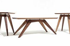 Custom Made Mid Century Modern Inspired Walnut Coffee Table