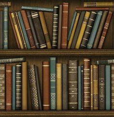 Details About Fine Decor Distinctive Bookcase Wallpaper Library Study Book  Shelf FD40546 Brown