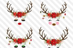 Christmas reindeer f