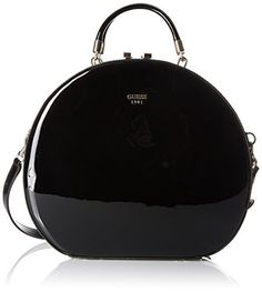 Women's Evening Handbags - GUESS Azalee Round Case Patent Black ** Read more at the image link.