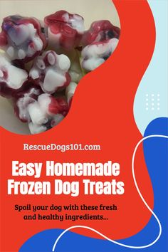 Patriotic frozen treats for your dog to celebrate 4th of July, Memorial Day or Labor Day. All fresh and good for your dog ingredients. Strawberries, blueberries, coconut oil. Learn how to make these today >> Frozen Dog Treats, Diy Dog Treats, Homemade Dog Treats, Dog Treat Recipes, Dog Food Recipes, Blueberries, Strawberries, Hypoallergenic Dog Treats, Dog Crafts