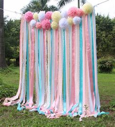 Pink white Lace mint ribbon Pom Poms flowers Sparkle fabric backdrop Wedding ceremony stage,birthday,baby shower backdrop party Garland by SilverDrawer on Etsy Fabric Backdrop Wedding, Diy Backdrop, Ceremony Backdrop, Backdrop Photobooth, Backdrop Decorations, Birthday Backdrop, Garland Wedding, Baby Shower Background, Baby Shower Backdrop