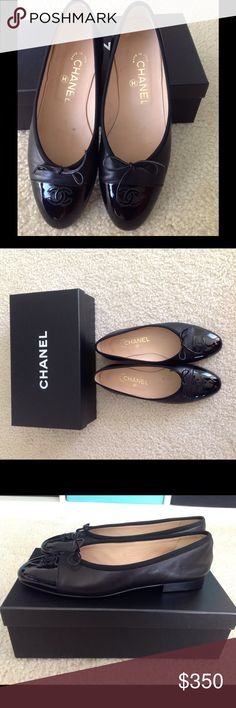 100% Authentic Chanel lambskin leather CC flats 100%Authentic Chanel lambskin leather cc black flats woman size 8.5 ,true to size only wear once , pls refer pics ,excellent condition ,come with original box !  Bought from NYC Chanel store . Sold as is .pls lmk if you have more questions ,thanks CHANEL Shoes Flats & Loafers