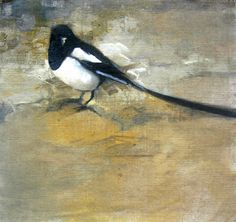 November Magpie II by Kathy Mapes Turner, http://www.turnerfineart.com/