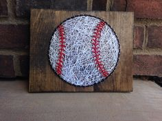 Baseball String Art Stain Wood Sign Home Decor Kids Room Decoration Boy Gift Made to Order Coaches Gift Great gift for teachers appreciation from my Etsy shop https://www.etsy.com/listing/280541190/baseball-string-art-stain-wood-sign-home