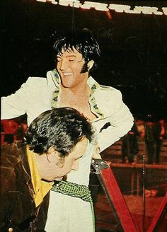Elvis and Joe Exposito... the Legendary Shows held at the Houston Astrodome, March 1970