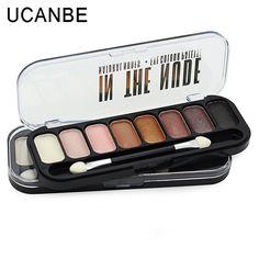 Moda mate paleta de sombra de ojos 8 colores color de tierra natural marca de cosméticos de maquillaje naked diamantes del brillo del pigmento de sombra de ojos