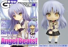 AmiAmi [Character & Hobby Shop]   Dengeki G's Magazine Aug 2010 Issue Angel Beats! w/ nendoroid Petit Tenshi Figure (Magazine)
