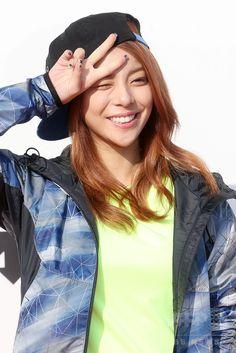 韓国・京畿道(Gyeonggi)にあるソウル大公園(Seoul Grand Park)で行われた「2014 DESCENTE TRAIL RACE」に臨む、歌手のエイリー(Ailee、2014年9月13日撮影)。(c)STARNEWS ▼18Sep2014AFP|「DESCENTE TRAIL RACE」に、MBALQやレインボーなど参加 http://www.afpbb.com/articles/-/3026127