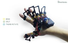 Chinese company Dexta Robotics set out to develop a hand motion-capturing device last year, but instead of creating a glove like everybody else, they designed. Cool Technology, Wearable Technology, Technology Gadgets, Tech Gadgets, Cool Gadgets, Robot Controller, Diy Tech, Arduino Projects, Hardware