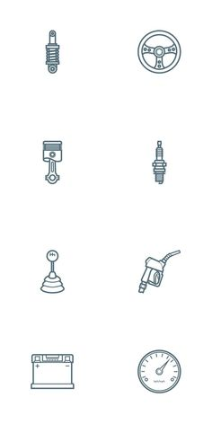 Free Car Parts Outline Icon Set - Oxygenna Web Design Finger Tattoos, Car Tattoos, Neue Tattoos, Tatoos, Logo Design, Icon Design, Design Agency, Piston Tattoo, Motorcycle Tattoos