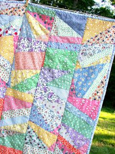 Patchwork Baby Quilt - Flying Flags by LoveTheBaby on Etsy