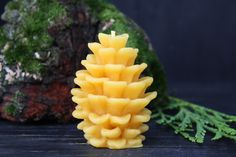 Beeswax Pinecone Candle Set of 3