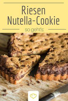 Ohja richtig gelesen! Hierbei handelt es sich tatsächlich um einen XXL Chocolate-Chip Cookie mit Nutella - Ein absolutes Muss für alle Nutella-Fans!