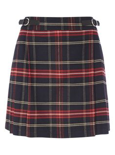 """""""Get gorgeous, flirty and feminine in the skirt of the season - my beautiful brushed checked tartan kilt. Add a black polo top or lightweight knit to complete the so-chic ensemble."""" - Gok</p><ul><li>Gok brushed tartan skirt</li><li>With lining</li><li>Mock buckled belt at the front</li><li>Zip fastening</li></ul>"""