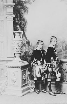The Royal Collection: Prince Arthur and Prince Leopold. Photographs from the 'Album of Important Occasions 1837-188