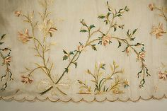 Skirt (embroidery detail) Date: 1795–1805 Culture: French Medium: silk, linen Accession Number: 35.98.3