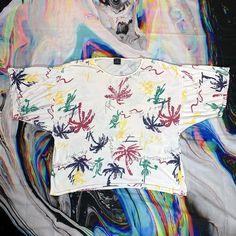 GENERRA rainbow hawaiian print oversize t shirt Bold Prints, Graphic Prints, Vintage Tees, Retro Vintage, Hawaiian Print, Rainbow, Vaporwave, Vintage Jewelry, T Shirt