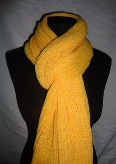 Yellow Long Scarf  Icelandic Production by HuldaGK on Etsy