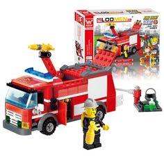 J310 brinquedos educativos! Nova chegada 206 pcs carro de bombeiros blocos pequenas partículas DIY brinquedos Action Figure melhor presente para o miúdo