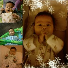 Baby photo collage of my second son