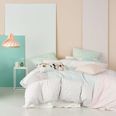 Rebecca Judd Loves Home Republic - Renwick- Bedroom Quilt Covers & Coverlets - Adairs online Bedroom Layouts, Bedroom Themes, Girls Bedroom, Bedrooms, Bedroom Inspo, Bedroom Inspiration, Home Republic, Quilt Cover Sets, Love Home