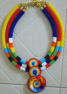 Handmade in Kenya Rope Jewelry, Bead Jewellery, Bead Earrings, Beaded Jewelry, African Tribal Jewelry, African Necklace, African Beads, Fabric Necklace, Fabric Jewelry