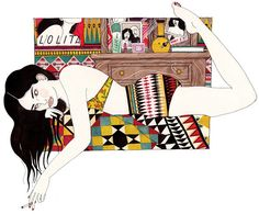 It's Nice That : Girls, books, eyebrows and patterns. Laura Callaghan's got it covered