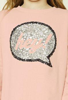 Girls Hey Sweatshirt (Kids)