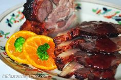 Hilda's Touch of Spice: Pork Roast in Port Wine & Fruity Sauce