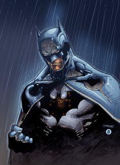 Batman in the rain by ~pixeltool on deviantART