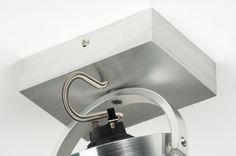 Plafondlamp 30532 modern design aluminium rond