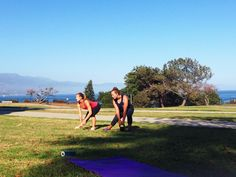 Teaching proper form for side lunges during  a TAP workout session (Triple A for abs, arms, and other ASSets!).   For more information on the Triple A program, check http://bethalexanderfitness.com/triple-a-workouts/  #TAP #bethalexanderfitness #exercise #workout #health #beach #santabarbara #lunges #personaltrainer
