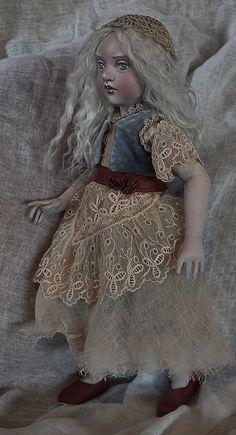 I especially like the use of fabrics...A slightly shabby princess - full view