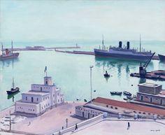 Albert Marquet - Port d'Alger (La Douane ou l'Amirauté) 1941 Henri Matisse, Rio Sena, Paris Ville, Great Paintings, Post Impressionism, Expositions, Art Moderne, French Art, Artist Painting