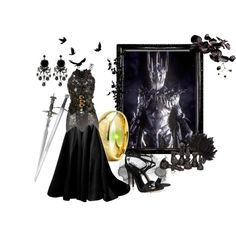 Sauron Lord of the Rings by kemp-jessica on Polyvore featuring IDRISS GUELAI ATELIER, Gianvito Rossi, Erika Cavallini Semi-Couture, Coast, Pieces, S.W.O.R.D., Tom Ford and Alexander McQueen