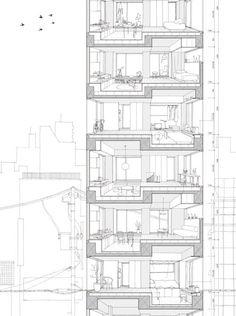 Tatsumi Apartment House es un proyecto residencial ubicado en la parte oriental de Tokio. El proyecto disminuye el ruido proveniente de la calle.