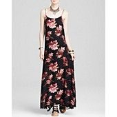 Free People Slip Dress - Go To Printed Star Chasing