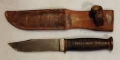 USN MKI knife Ka-bar with USN scabbard