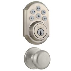 Kwikset SmartCode Single Cylinder Satin Nickel Electronic Deadbolt Featuring SmartKey & Juno $77 with free shipping #LavaHot http://www.lavahotdeals.com/us/cheap/kwikset-smartcode-single-cylinder-satin-nickel-electronic-deadbolt/121746