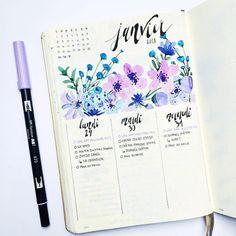"37 Likes, 5 Comments - Bullet journal inspiration... (@bullet_journaling_it_is) on Instagram: ""Soooo #pretty #june #butterfly #flowers #drawing #calligraphy #bulletjournal #bulletjournalitis…"""