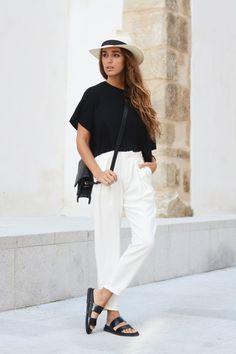 H&M top, Pull & Bear pants, Zara sandals