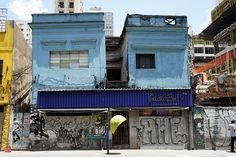 Old nightclubs demolished at Augusta Street, Sao Paulo in 2011.