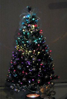 Small Fibre Optic Christmas Trees